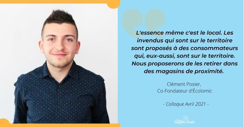 Clément Posier, CEO d'Ecolomic nous explique les enjeux des circuits-courts aujourd'hui